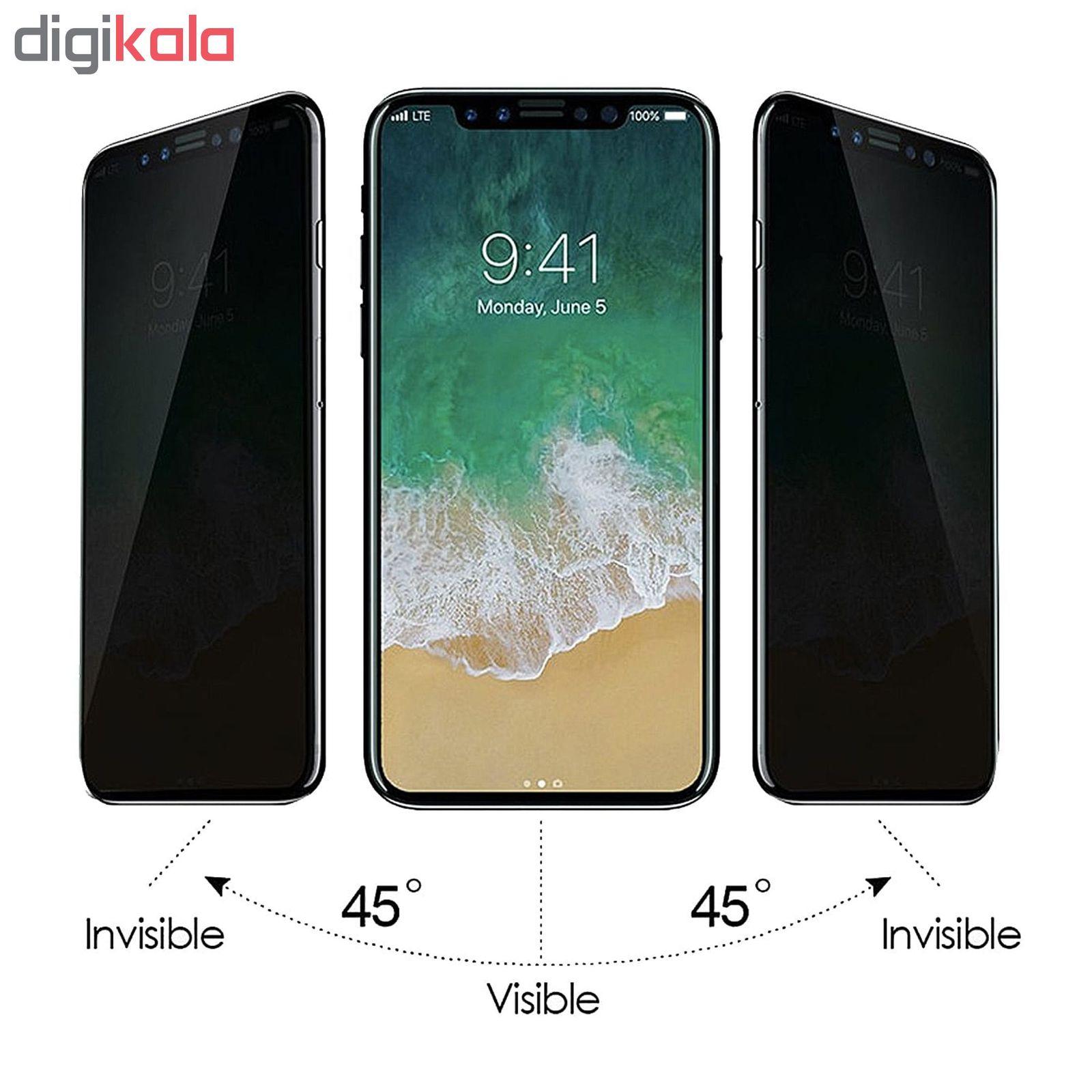 محافظ صفحه نمایش حریم شخصی Hard and Thick  مدل F-01 مناسب برای گوشی موبایل اپل Iphone 11 pro main 1 2
