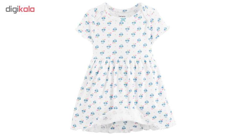 ست کت و پیراهن نوزادی دخترانه کارترز کد 1059
