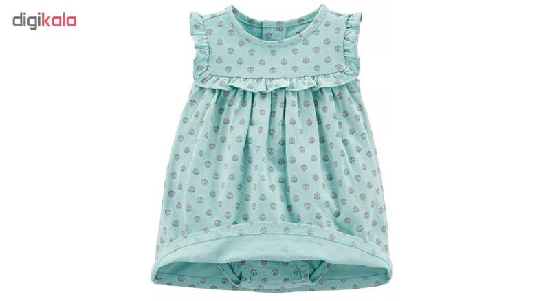 ست کت و پیراهن نوزادی دخترانه کارترز کد 1065