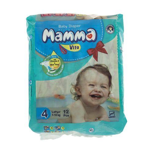 پوشک ماما مدل Vita سایز 4 بسته 12 عددی