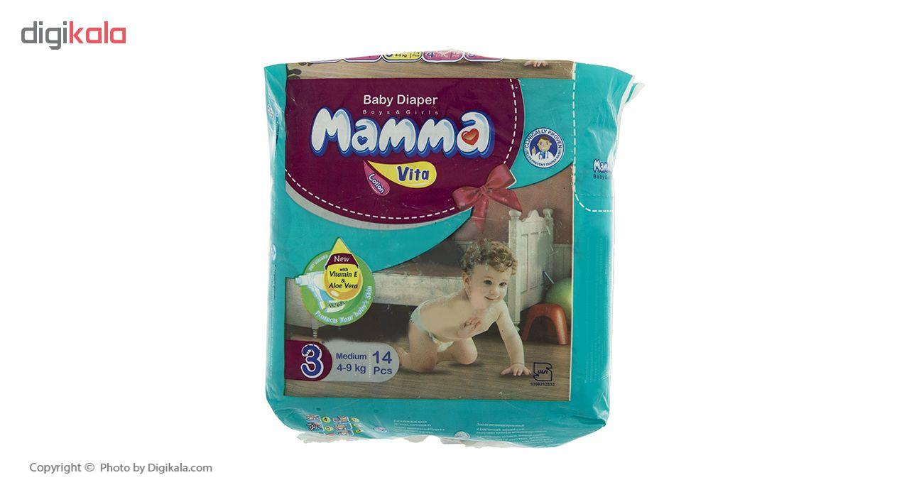 پوشک ماما مدل Vita سایز 3 بسته 14 عددی