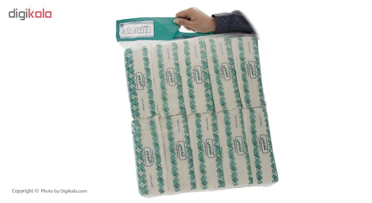 دستمال کاغذی 100 برگ تندیس بسته 10 عددی main 1 1