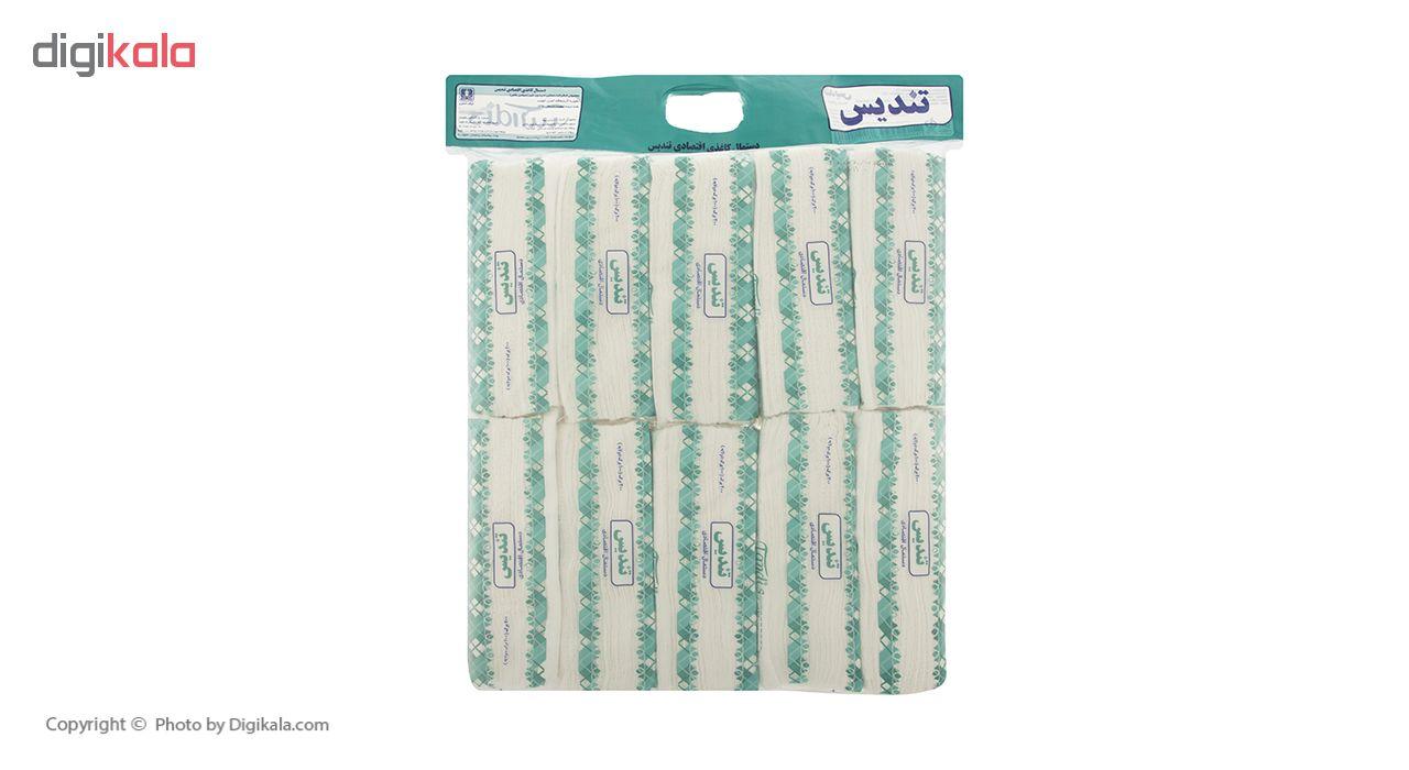 دستمال کاغذی 100 برگ تندیس بسته 10 عددی main 1 2