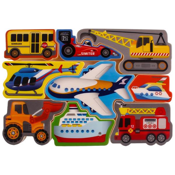 پازل 9 تکه پلی گو مدل Air And Land Craft Puzzle کد 1995