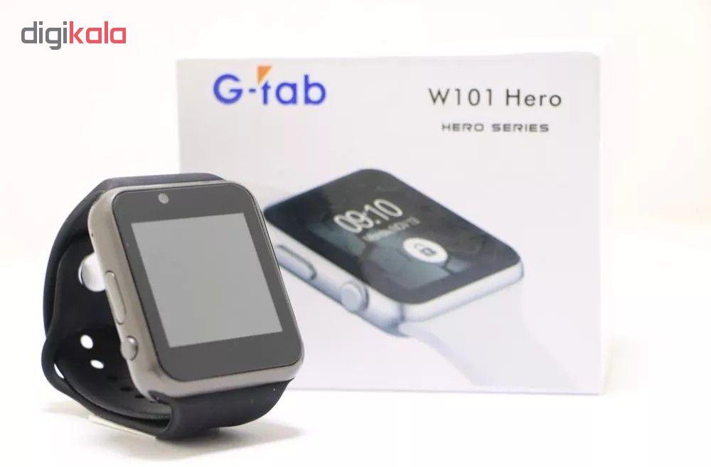 ساعت هوشمند جی تب مدل W101 Hero به همراه محافظ صفحه نمایش main 1 3