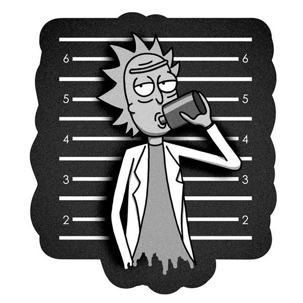 استیکر لپ تاپ طرح Rick کد 01