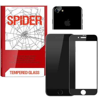 محافظ صفحه نمایش مات اسپایدر مدل S-FG002 مناسب برای گوشی موبایل اپل iPhone 7 به همراه محافظ لنز دوربین