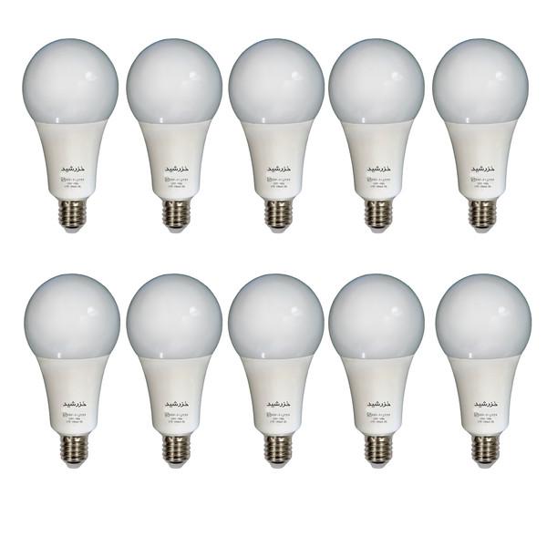 لامپ ال ای دی 15 وات خزرشید مدل H027 پایه E27 بسته 10 عددی