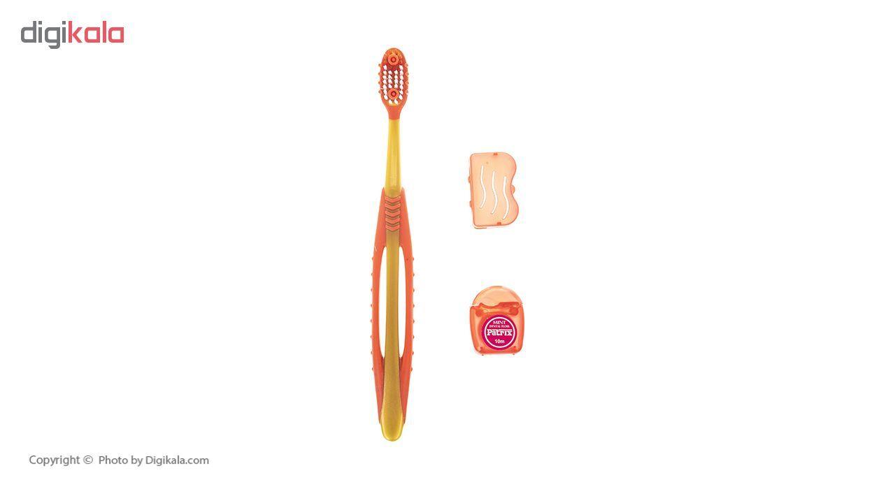 مسواک پاتریکس کد 345 با برس متوسط به همراه نخ دندان main 1 2