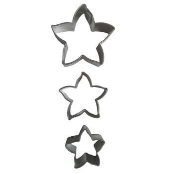 کاتر بیسکویت و شیرینی طرح ستاره کد 2 مجموعه 3 عددی