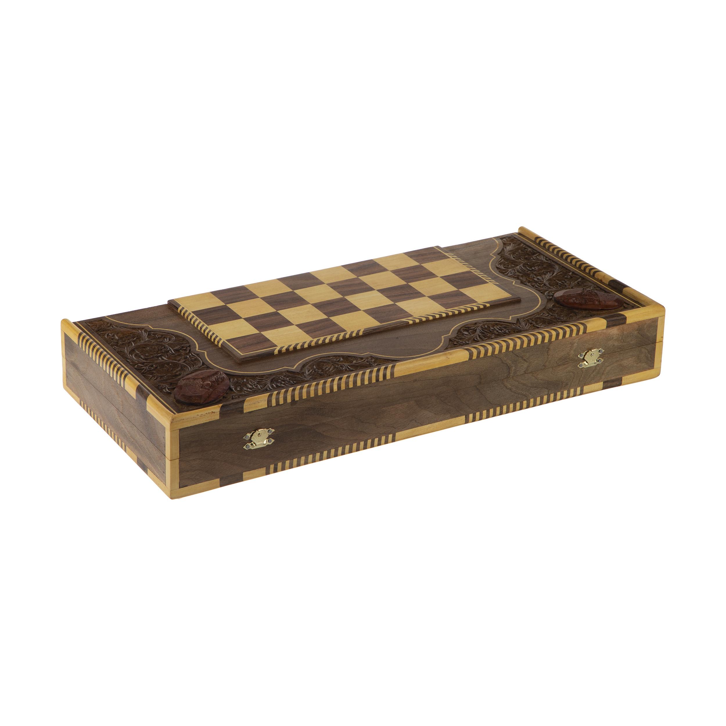 صفحه شطرنج منبت کاری افراچوب کد 001