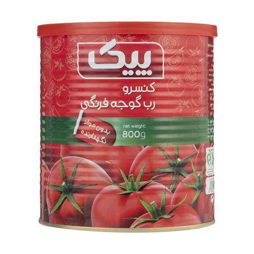 رب گوجه فرنگی پیک مقدار 800 گرم