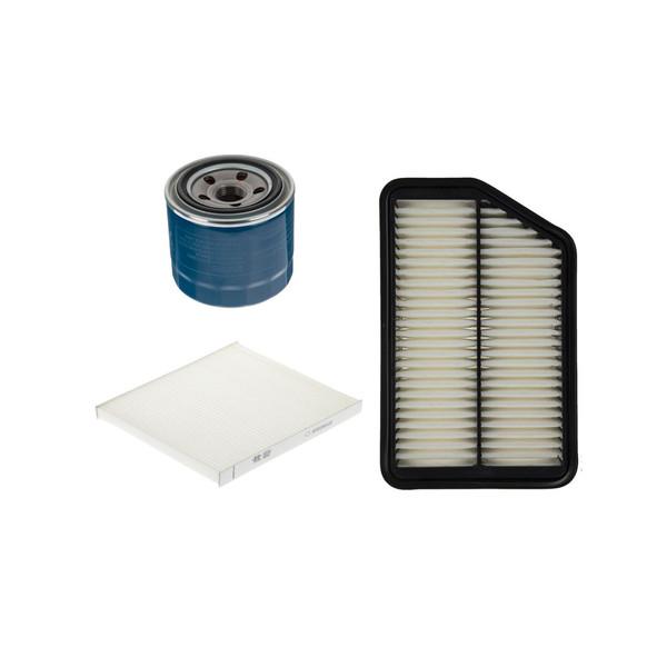 فیلتر هوا خودرو هیوندای جنیون پارتز مدل 281133X000 مناسب برای النترا به همراه فیلتر کابین و فیلتر روغن