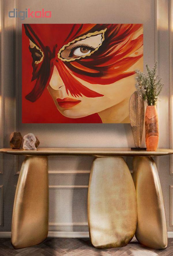خرید                      تابلو نقاشی رنگ روغن طرح نقاب زن کد 0004
