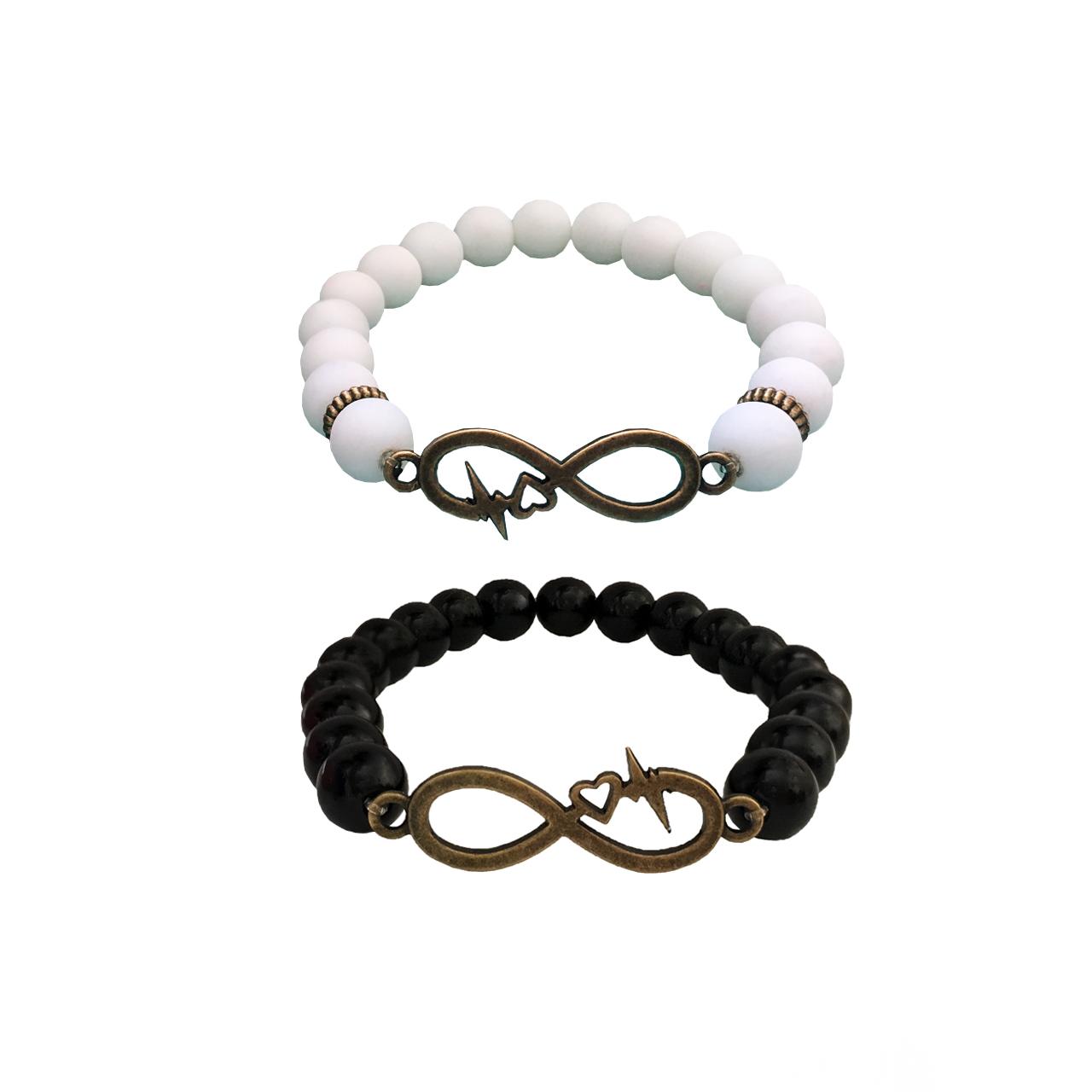 دستبند طرح بینهایت کد BE01 مجموعه 2 عددی