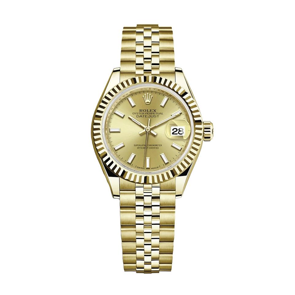 ساعت مچی عقربه ای زنانه مدل دیت جاست کد HC2035
