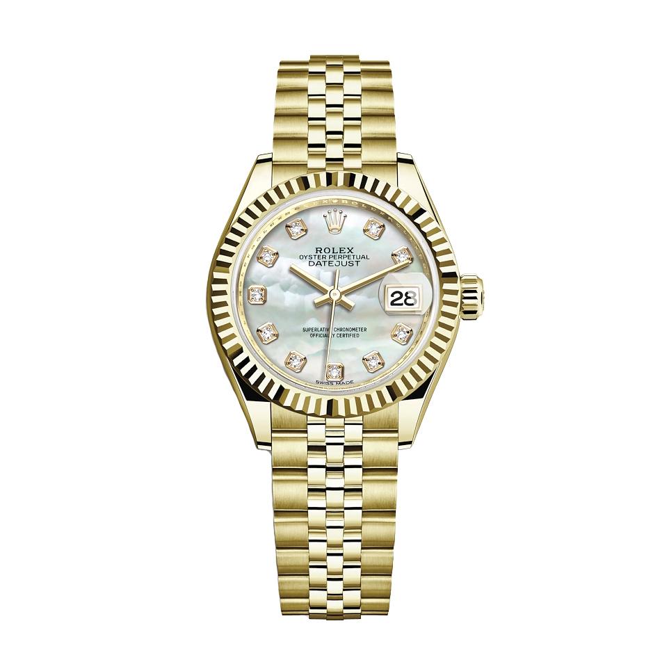 ساعت مچی عقربه ای زنانه مدل دیت جاست کد HC2045