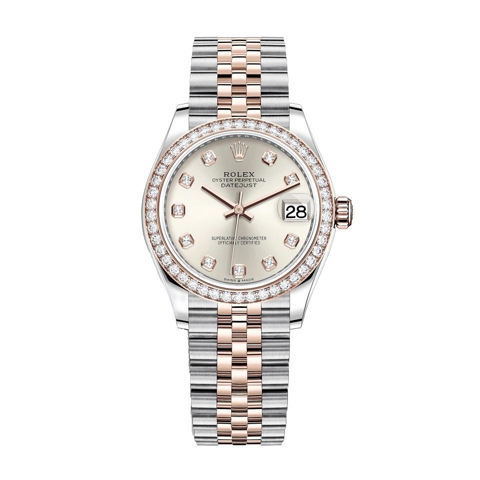 ساعت مچی عقربه ای زنانه مدل دیت جاست کد HC2056