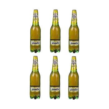 نوشیدنی گازدار لیمویی دلستر حجم 1 لیتر بسته 6 عددی