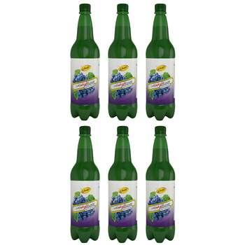 نوشیدنی بدون الکل انگور قرمز کاسل حجم 1 لیتر بسته 6 عددی