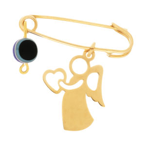 سنجاق سینه طلا 18 عیار دخترانه کانیار گالری کد SAN24