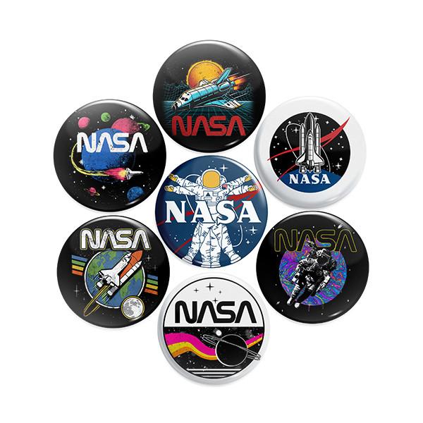 پیکسل ماسا دیزاین طرح ناسا کد BADGE4 مجموعه 7 عددی