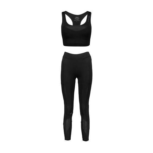 ست نیم تنه و لگینگ ورزشی زنانه  کد w35 رنگ مشکی