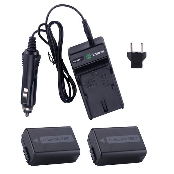 شارژر باتری دوربین اسماتری مدل +LP-E6 به همراه 2 عدد باتری