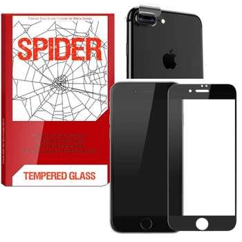 محافظ صفحه نمایش مات اسپایدر مدل S-FG002 مناسب برای گوشی موبایل اپل iPhone 8 Plus به همراه محافظ لنز دوربین