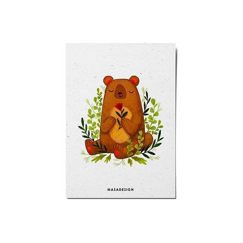 کارت پستال ماسا دیزاین طرح خرس کد POST149