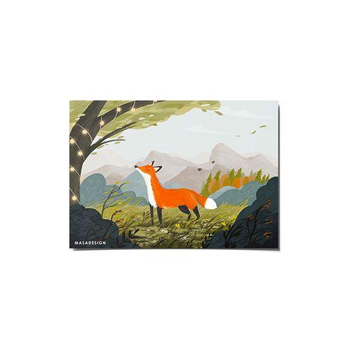 کارت پستال ماسا دیزاین طرح روباه کد POST150