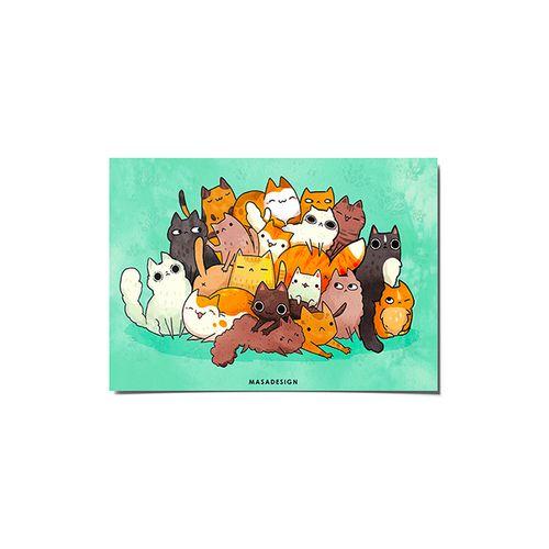 کارت پستال ماسا دیزاین طرح گربه ها کد POST151
