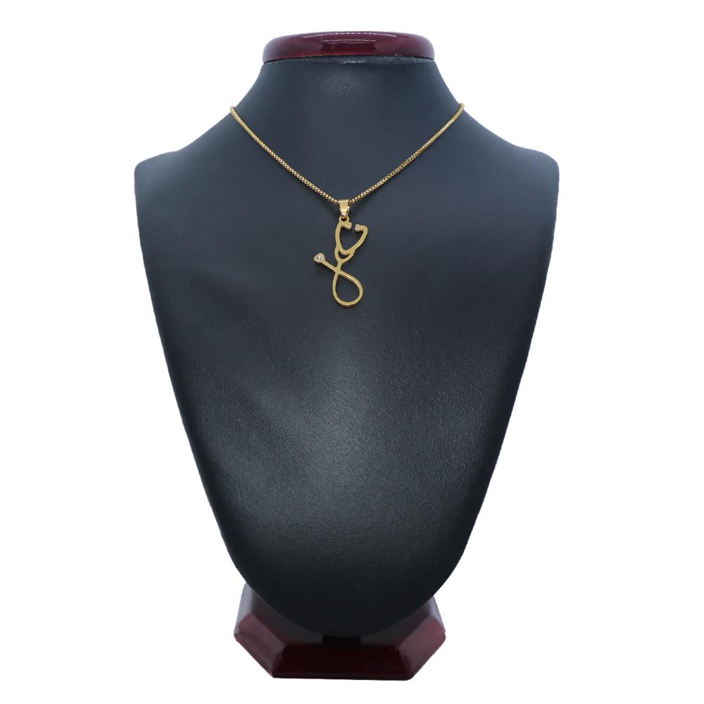 گردنبند مردانه طرح گوشی پزشکی کد dce44