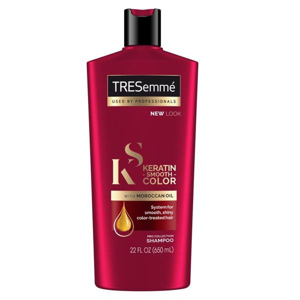 شامپو مو ترزمی مدل Keratin smooth color with Moroccan oil حجم 650 میلی لیتر