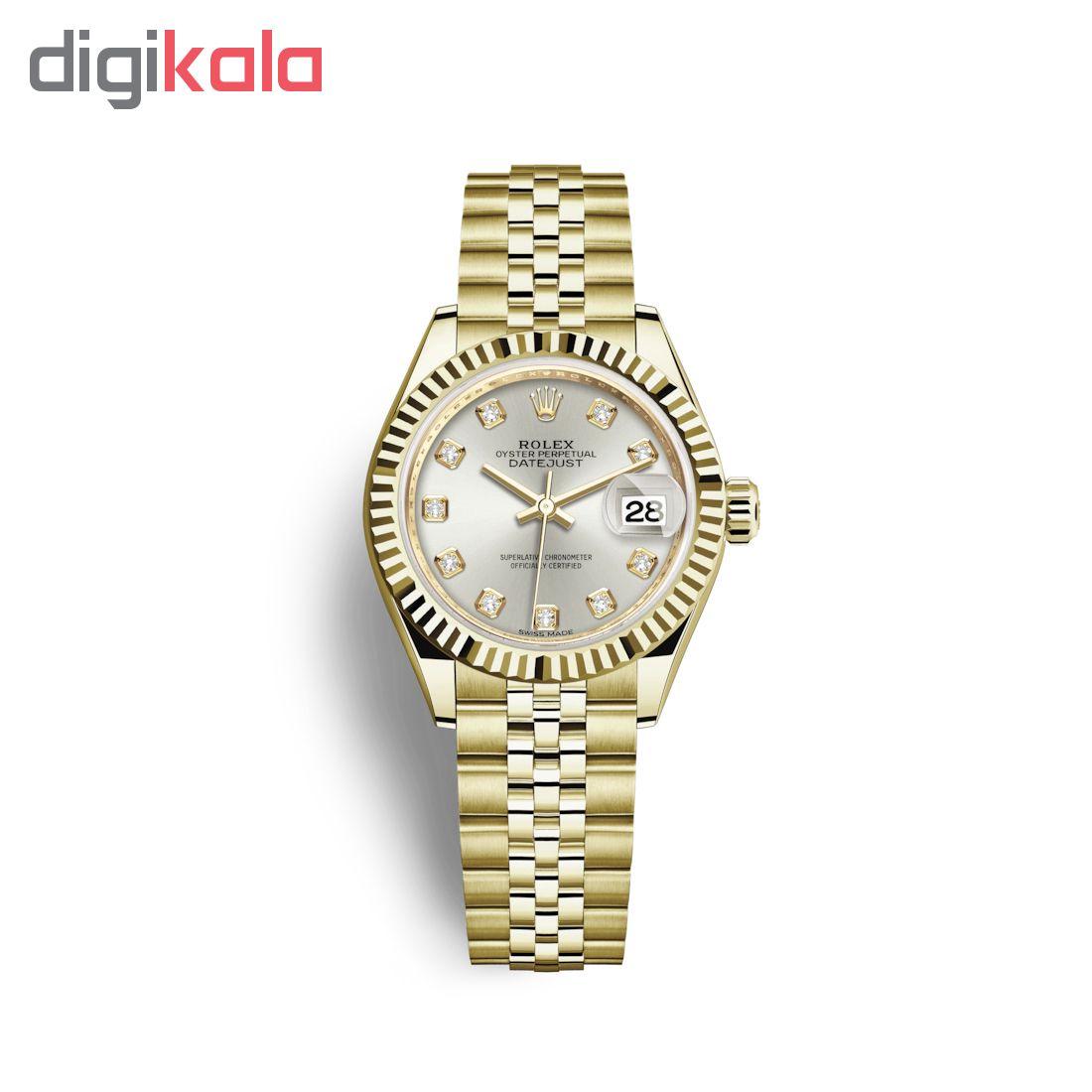 ساعت مچی عقربه ای زنانه مدل دیت جاست کد HC2043