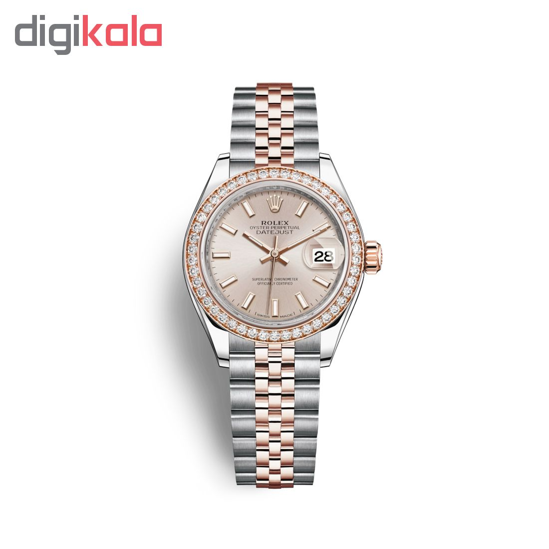 ساعت مچی عقربه ای زنانه مدل دیت جاست کد HC2058