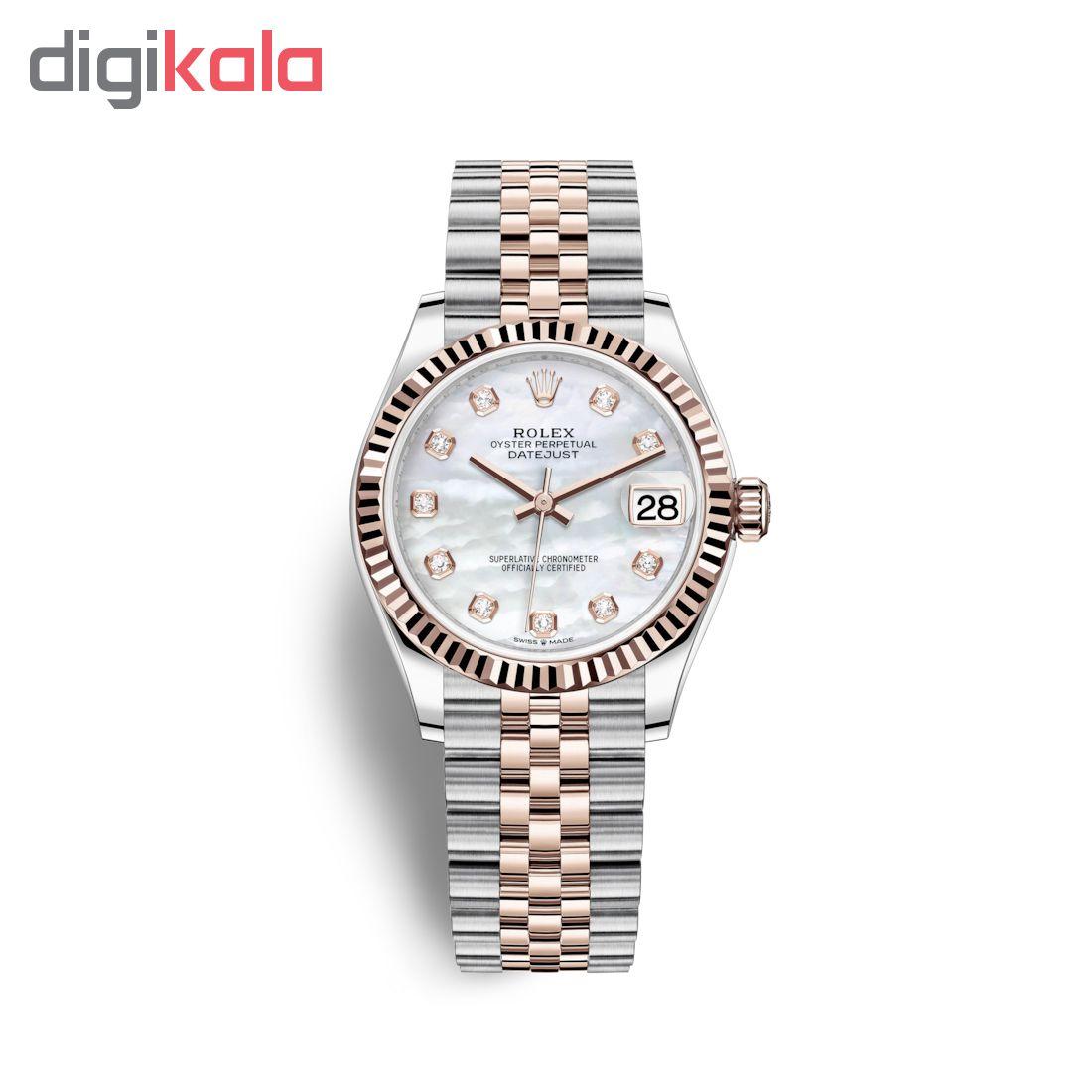 ساعت زنانه برند مدل دیت جاست کد HC2060