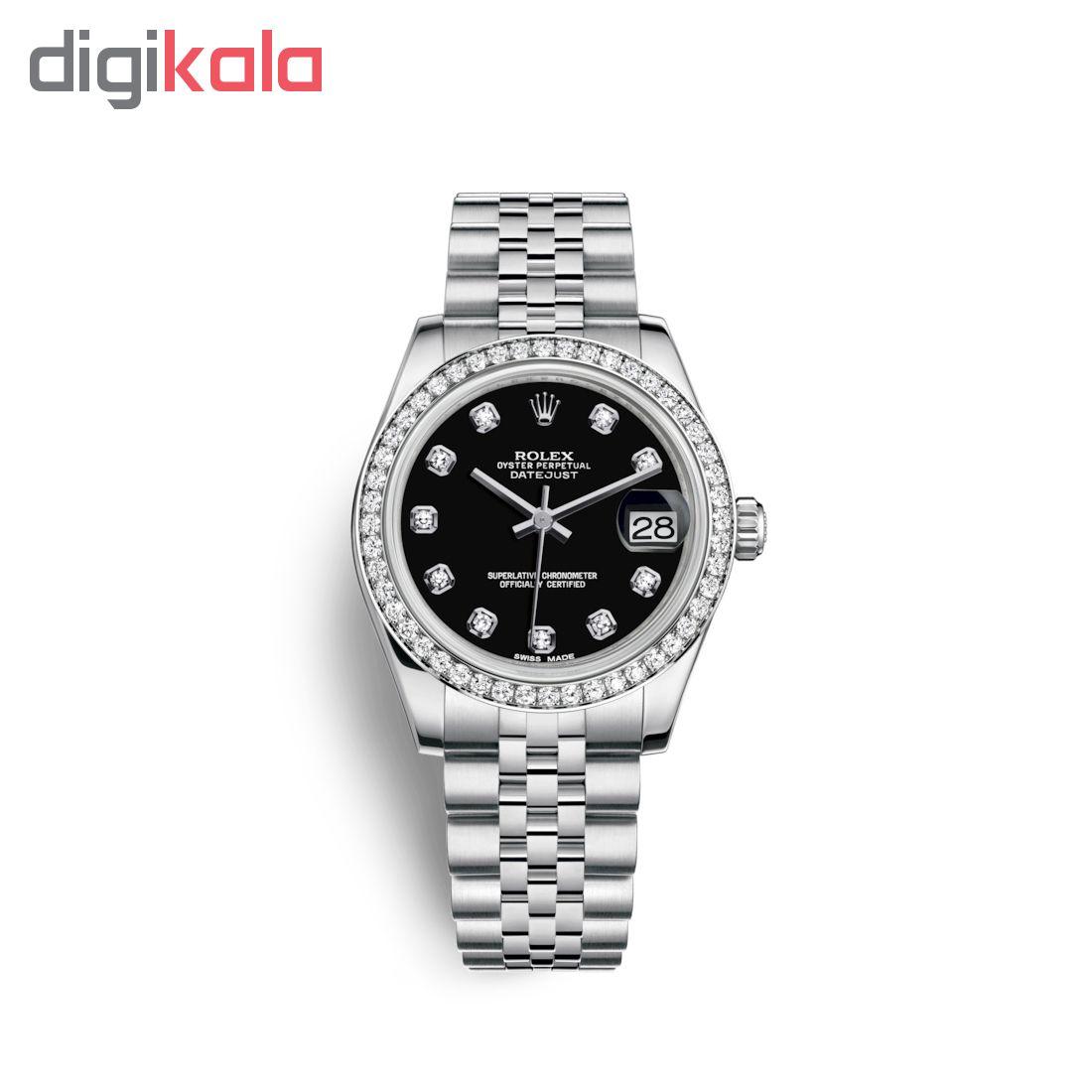 ساعت مچی عقربه ای زنانه مدل دیت جاست کد HC2080