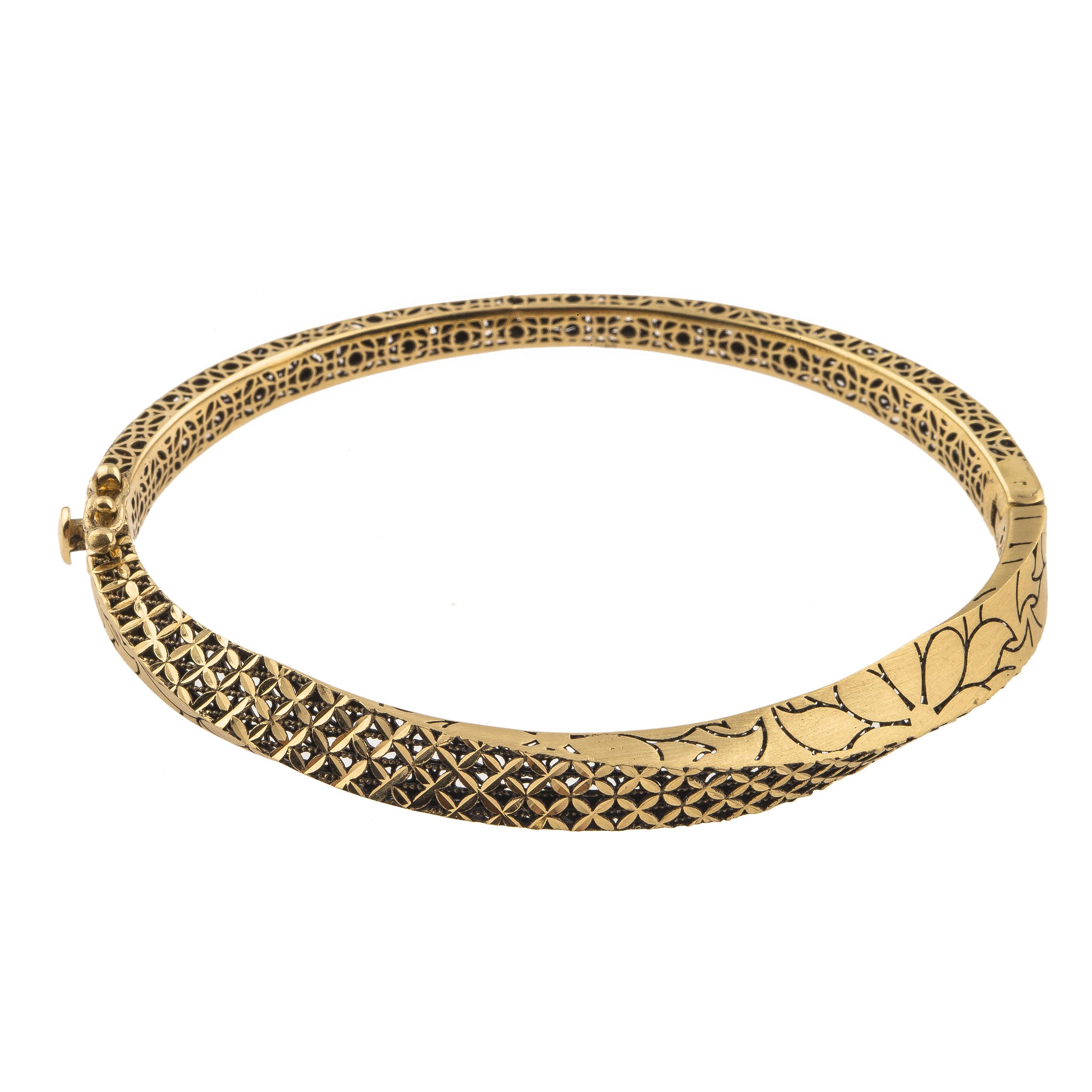 دستبند طلا 18 عیار زنانه کد B139