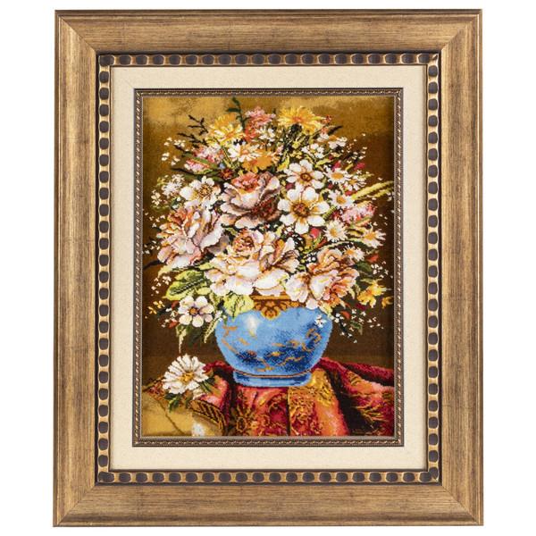 تابلو فرش دستباف سی پرشیا طرح گل با گلدان کد 901724
