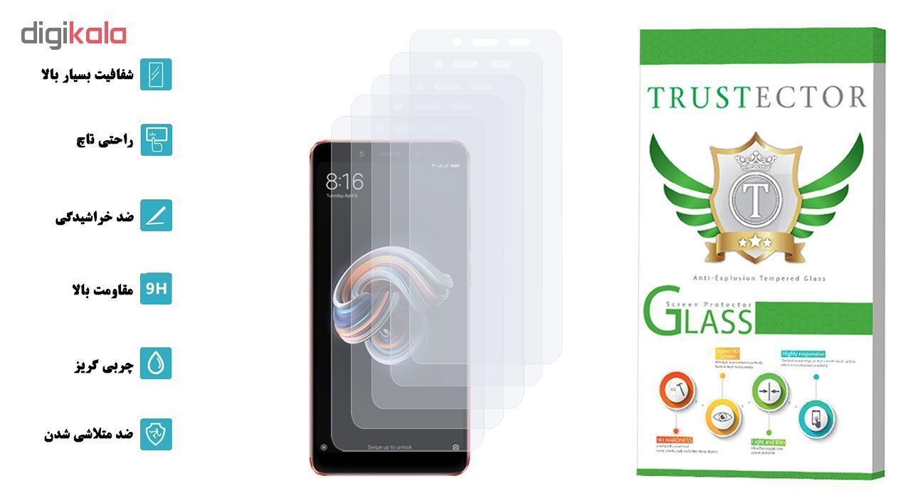محافظ صفحه نمایش تراستکتور مدل GLS مناسب برای گوشی موبایل شیائومی Redmi Note 5 Pro بسته 5 عددی main 1 2