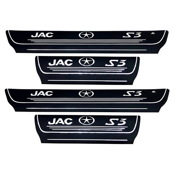 برچسب پارکابی خودرو کد SK012 مناسب برای جک S3 مجموعه 4 عددی