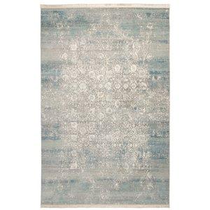 فرش ماشینی محتشم طرح کهنه نما کد 100633 زمینه خاکستری
