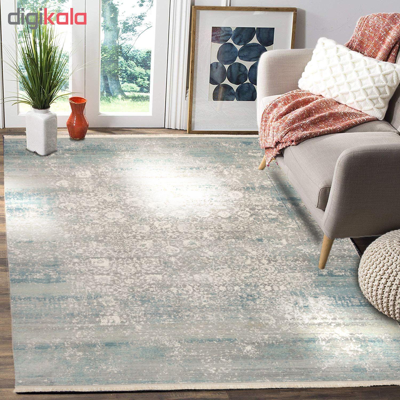 فرش ماشینی محتشم طرح کهنه نما کد 100633 زمینه خاکستری main 1 2