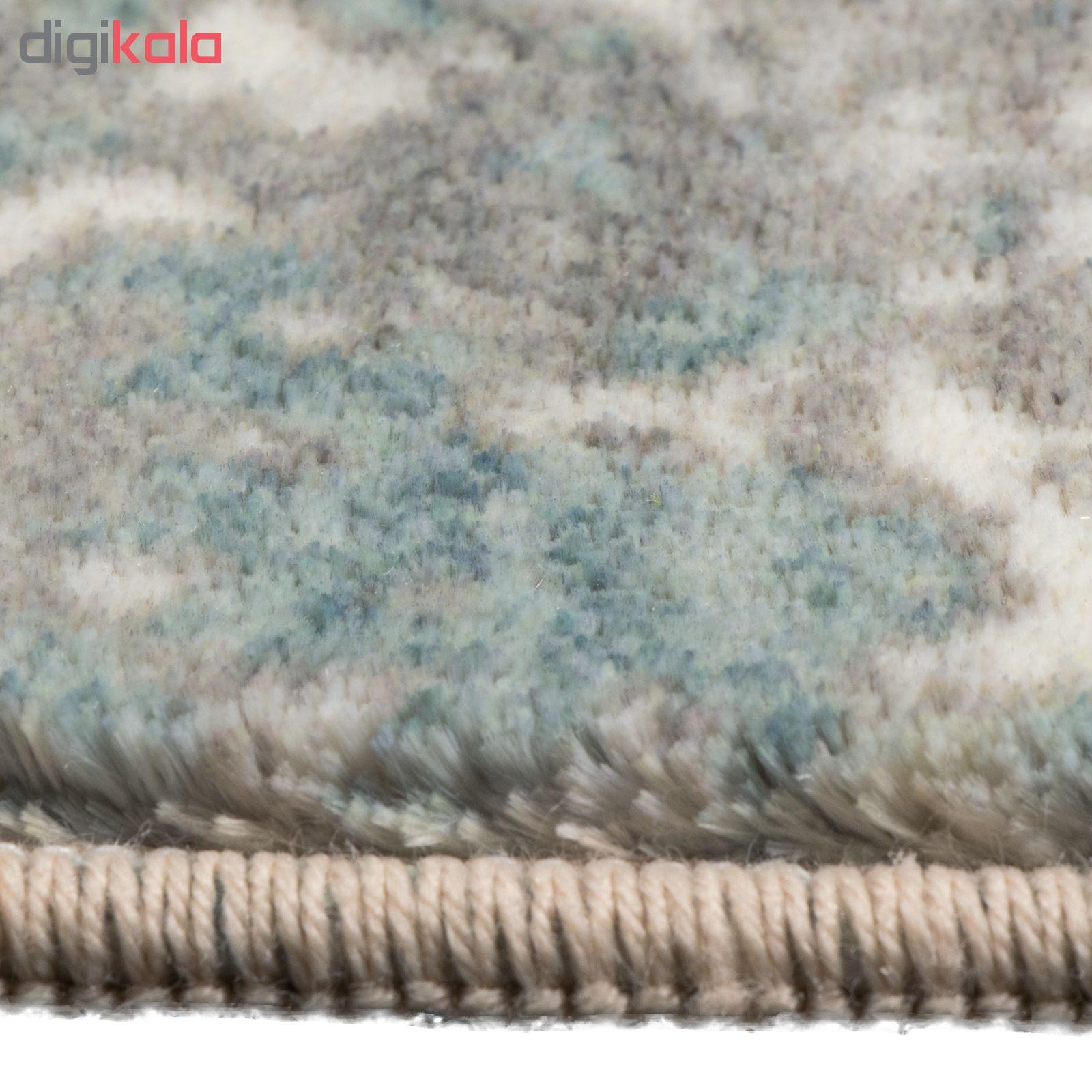 فرش ماشینی محتشم طرح کهنه نما کد 100633 زمینه خاکستری main 1 4