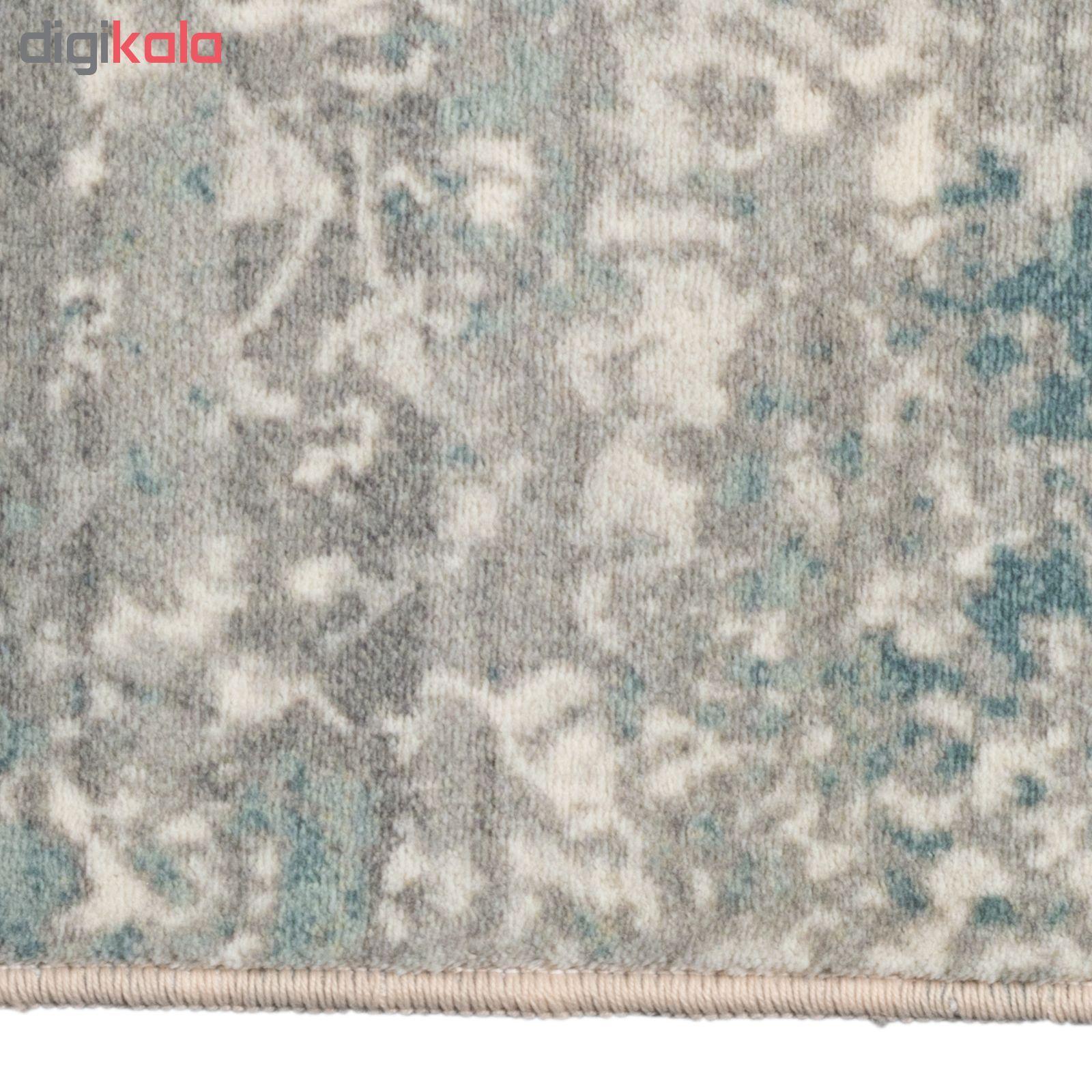 فرش ماشینی محتشم طرح کهنه نما کد 100633 زمینه خاکستری main 1 5