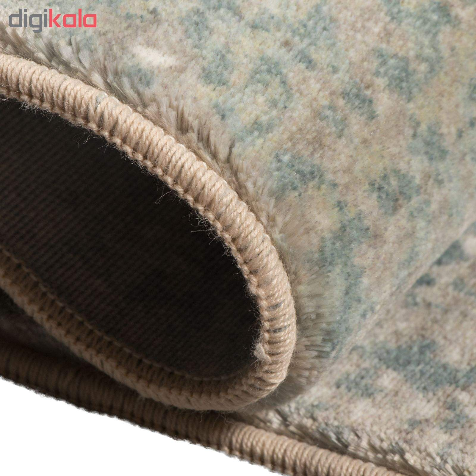 فرش ماشینی محتشم طرح کهنه نما کد 100633 زمینه خاکستری main 1 6