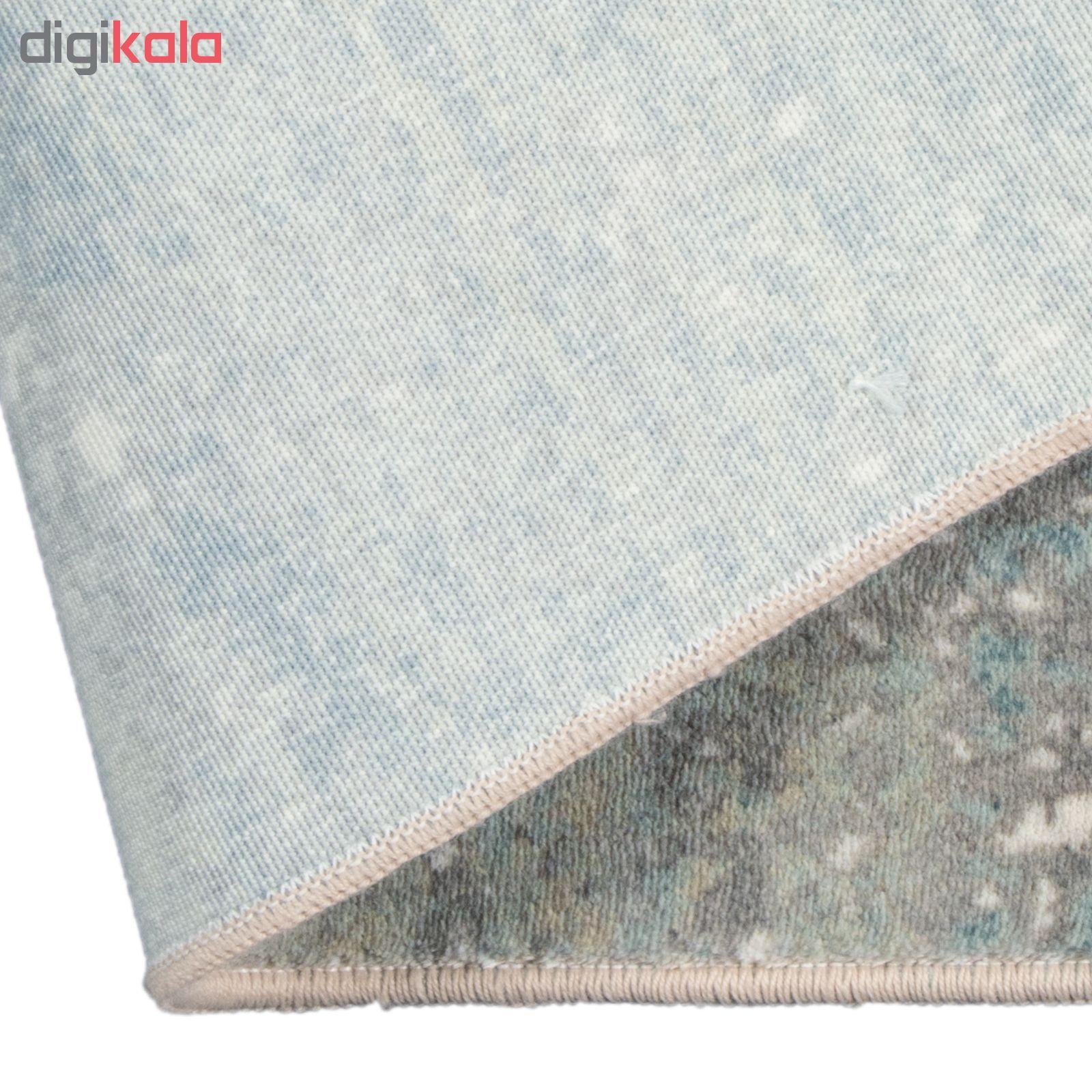 فرش ماشینی محتشم طرح کهنه نما کد 100633 زمینه خاکستری main 1 7