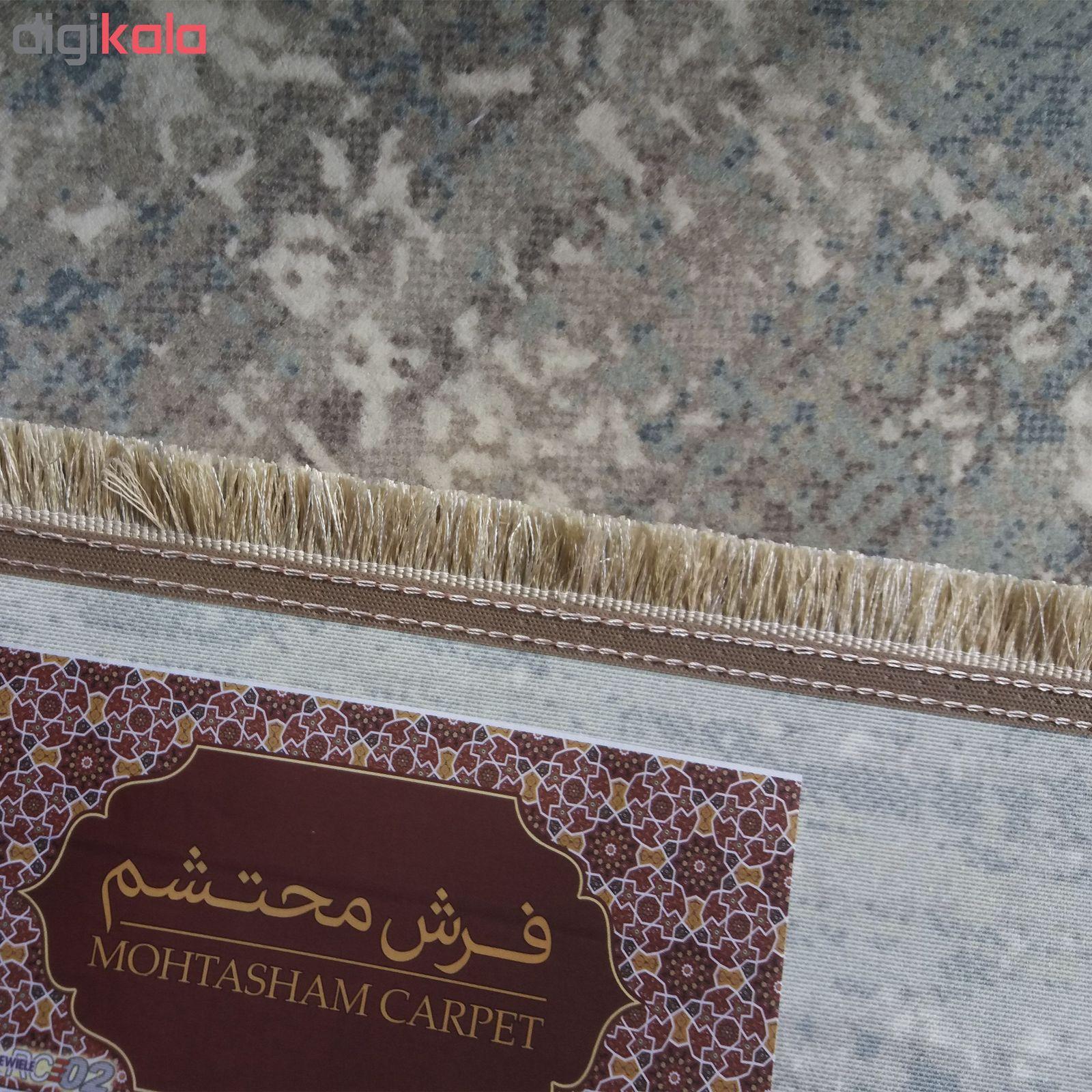 فرش ماشینی محتشم طرح کهنه نما کد 100633 زمینه خاکستری main 1 8
