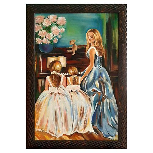 تابلو نقاشی رنگ و روغن طرح پیانیست کد 0007